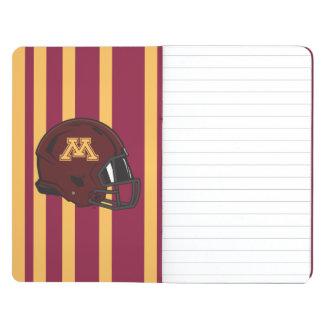 Casco de fútbol americano de Minnesota M Cuaderno