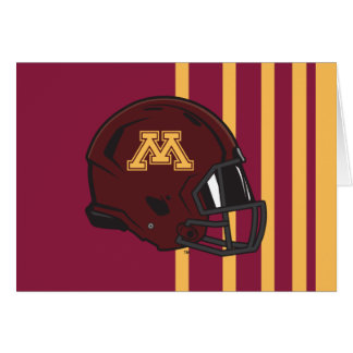 Casco de fútbol americano de Minnesota M Tarjeta Pequeña