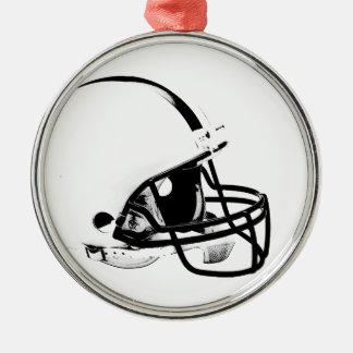Casco de fútbol americano del arte pop adorno navideño redondo de metal