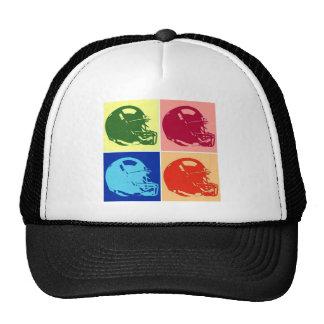 Casco de fútbol americano del arte pop de cuatro gorra
