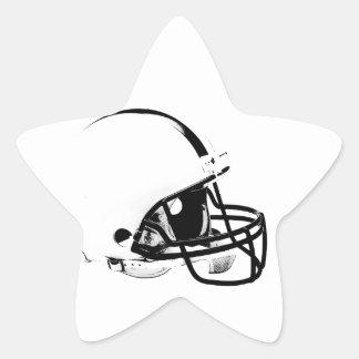 Casco de fútbol americano del arte pop pegatina en forma de estrella