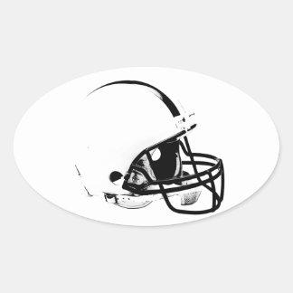 Casco de fútbol americano del arte pop pegatina ovalada