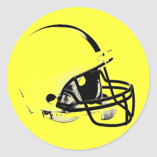 Casco de fútbol americano del arte pop pegatina redonda