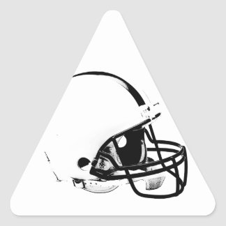 Casco de fútbol americano del arte pop pegatina triangular