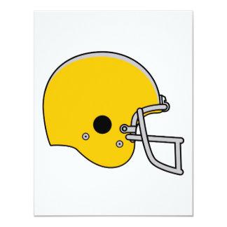 """Casco de fútbol americano del oro invitación 4.25"""" x 5.5"""""""