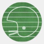 Casco de fútbol americano etiqueta redonda
