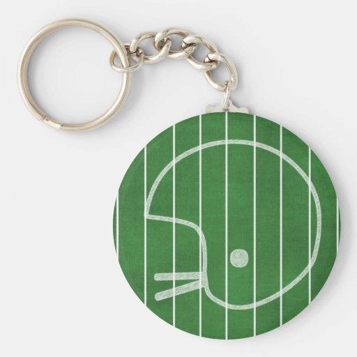 Casco de fútbol americano llavero redondo tipo pin