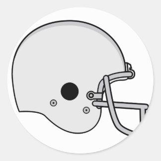 casco de fútbol americano pegatina redonda