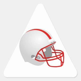 Casco de fútbol americano pegatina triangular