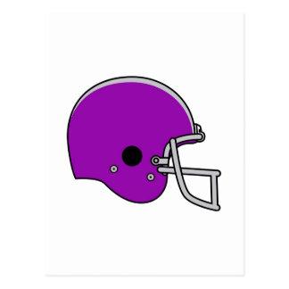 Casco de fútbol americano púrpura postal