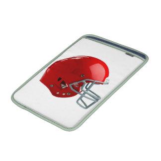 Casco de fútbol americano rojo brillante fundas MacBook