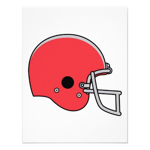 Casco de fútbol americano rojo invitacion personalizada