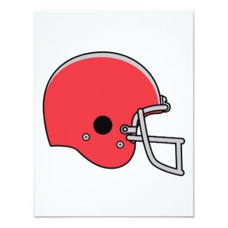 """Casco de fútbol americano rojo invitación 4.25"""" x 5.5"""""""