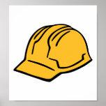 Casco de la construcción del casco posters