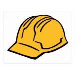 Casco de la construcción del casco tarjeta postal