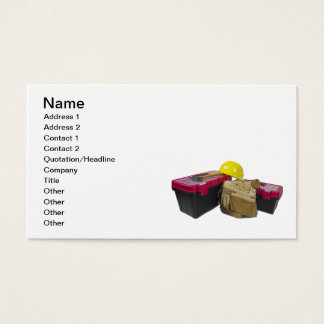 Casco de la correa de la herramienta de las cajas tarjetas de visita