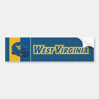 Casco de la universidad de Virginia Occidental Pegatina Para Auto