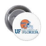 Casco de los cocodrilos de la Florida Pin Redondo De 2 Pulgadas