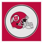 Casco de los Utes de Utah Póster