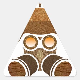 Casco de Steampunk Pegatina Triangular