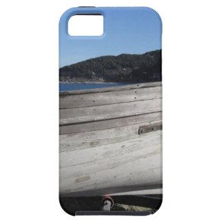 Casco del barco de pesca de madera bajo reparación iPhone 5 fundas