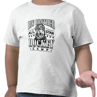Casco del blanco del campo del hockey de hermano m camisetas
