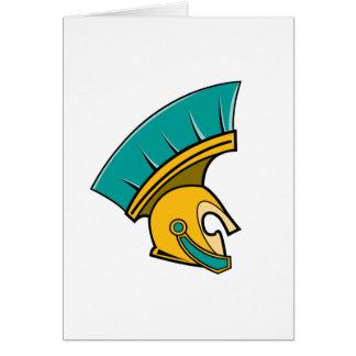 Casco del centurión tarjeta de felicitación