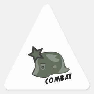 Casco del combate pegatina triangular