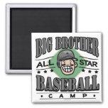 Casco del negro del béisbol de hermano mayor imán de frigorífico