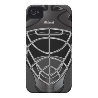 Casco del portero del hockey iPhone 4 cobertura