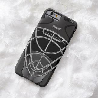 Casco del portero del hockey funda de iPhone 6 barely there