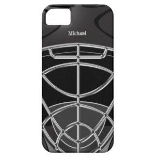 Casco del portero del hockey iPhone 5 carcasas