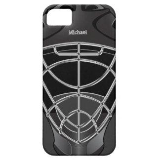 Casco del portero del hockey iPhone 5 Case-Mate cárcasa