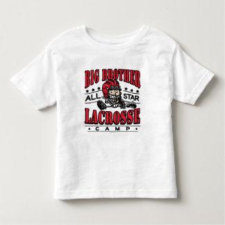 Casco del rojo de hermano mayor LaCrosse Playera De Bebé