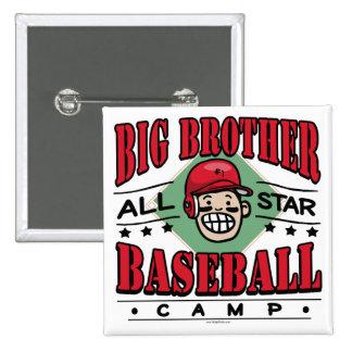 Casco del rojo del béisbol de hermano mayor pin