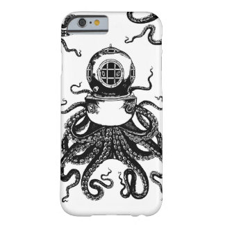 ¡casco del salto de Kraken del pulpo de Steampunk Funda De iPhone 6 Barely There