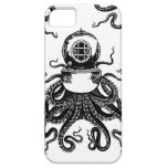 ¡casco del salto de Kraken del pulpo de Steampunk  iPhone 5 Funda