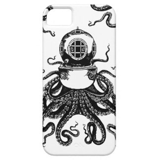 ¡casco del salto de Kraken del pulpo de Steampunk Funda Para iPhone 5 Barely There