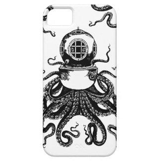 ¡casco del salto de Kraken del pulpo de Steampunk Funda Para iPhone 5 Barely There