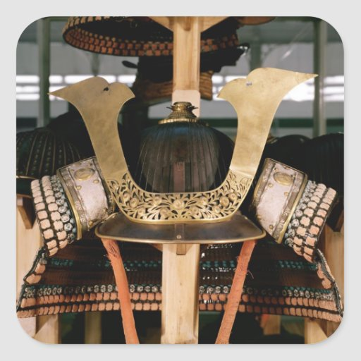 Casco del samurai, mediados del siglo XIV Colcomanias Cuadradas Personalizadas