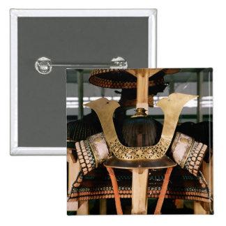 Casco del samurai, mediados del siglo XIV Pin Cuadrada 5 Cm