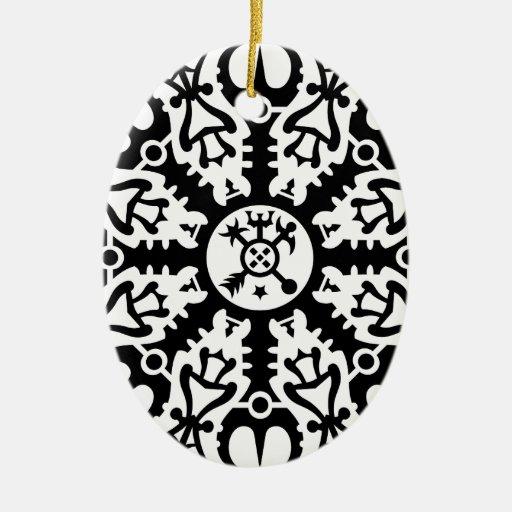 Casco del temor - no. 1 (negro) de Aegishjalmur Ornamento De Navidad