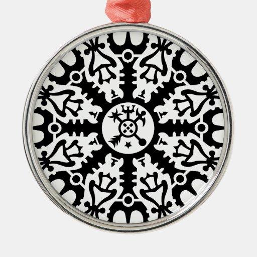 Casco del temor - no. 1 (negro) de Aegishjalmur Ornamentos De Reyes