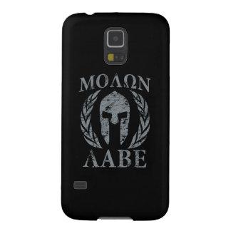 Casco espartano del Grunge de Molon Labe Fundas De Galaxy S5