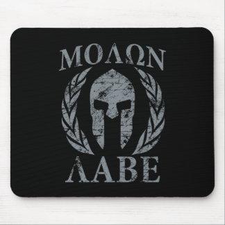 Casco espartano del Grunge de Molon Labe Mouse Pads