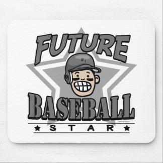 Casco futuro del negro de la estrella de béisbol alfombrillas de raton