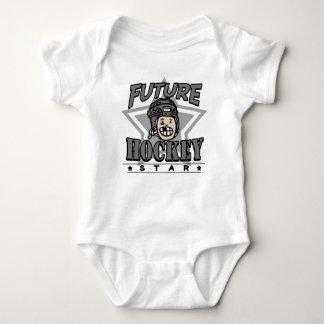 Casco futuro del negro de la estrella del hockey body para bebé