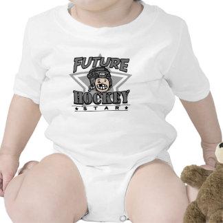 Casco futuro del negro de la estrella del hockey traje de bebé