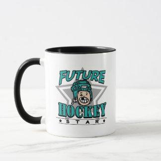 Casco futuro del trullo de la estrella del hockey taza