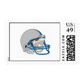 Casco gris sellos postales